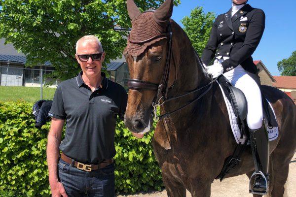 Marina Mattsson & Buster with trainer Jan Brink