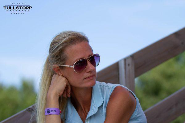 Catharina Brink enjoying the view at the warm-up