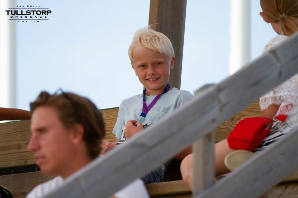 Oliver Brink cheering on Tullstorp horses